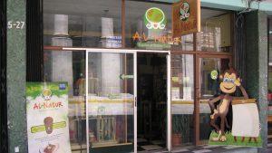 La entrada al local, ubicado en le centro de Quetzaltenango